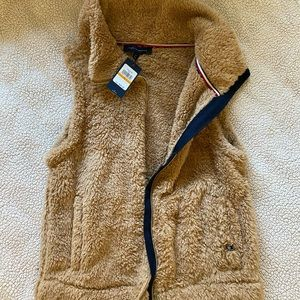 Tommy Hilfiger Tan Furry Vest